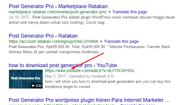 video youtube untuk seo
